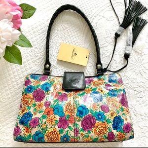 NWT Patricia Nash Rienzo floral bag Spanish Villa